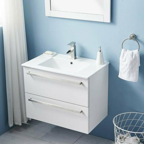 "30"" Vanity Set Single Wall-Mounted Under Sink Cabinet"