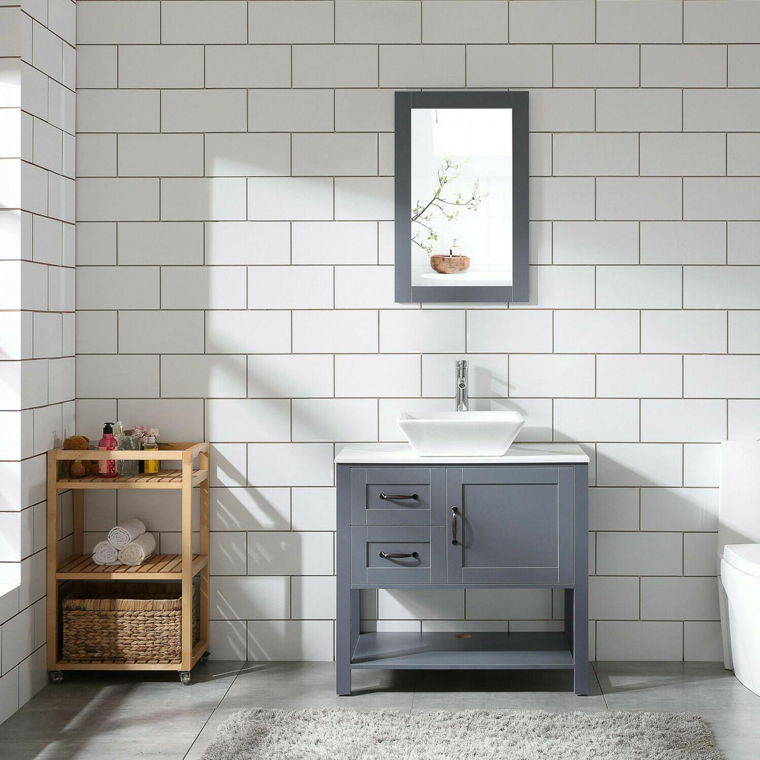 30 gray bathroom vanity and sink combo