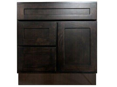 30 inch vanity cabinet with right drawers