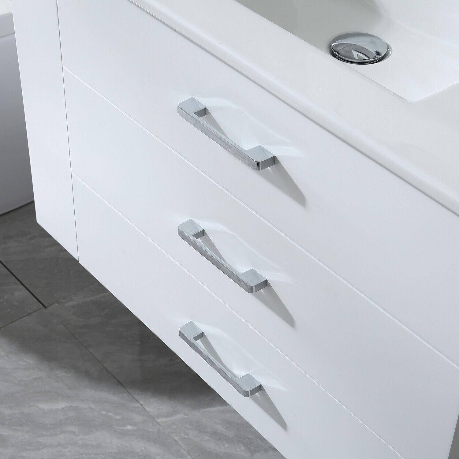 """32"""" Wall Mounted with Sink Chrome Faucet"""