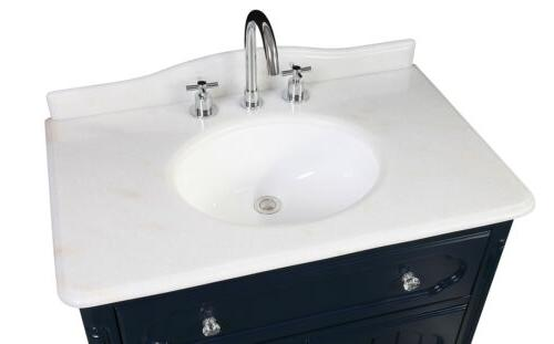 "34"" Collection Navy Bathroom Sink Vanity"