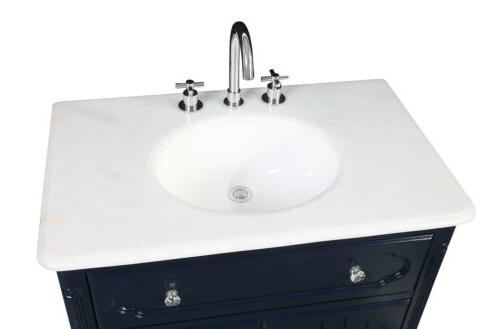 "34"" Benton Navy Blue Bathroom"