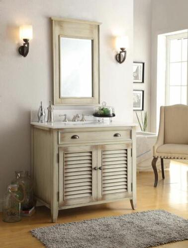 36 abbeville bathroom sink vanity with mirror