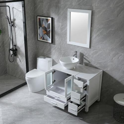 """36"""" Bathroom Cabinet Vanity Faucet and New"""