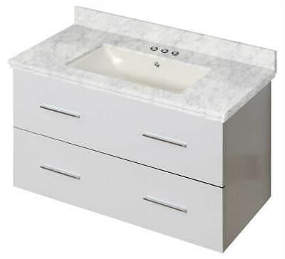 36 in wall mount bathroom vanity in