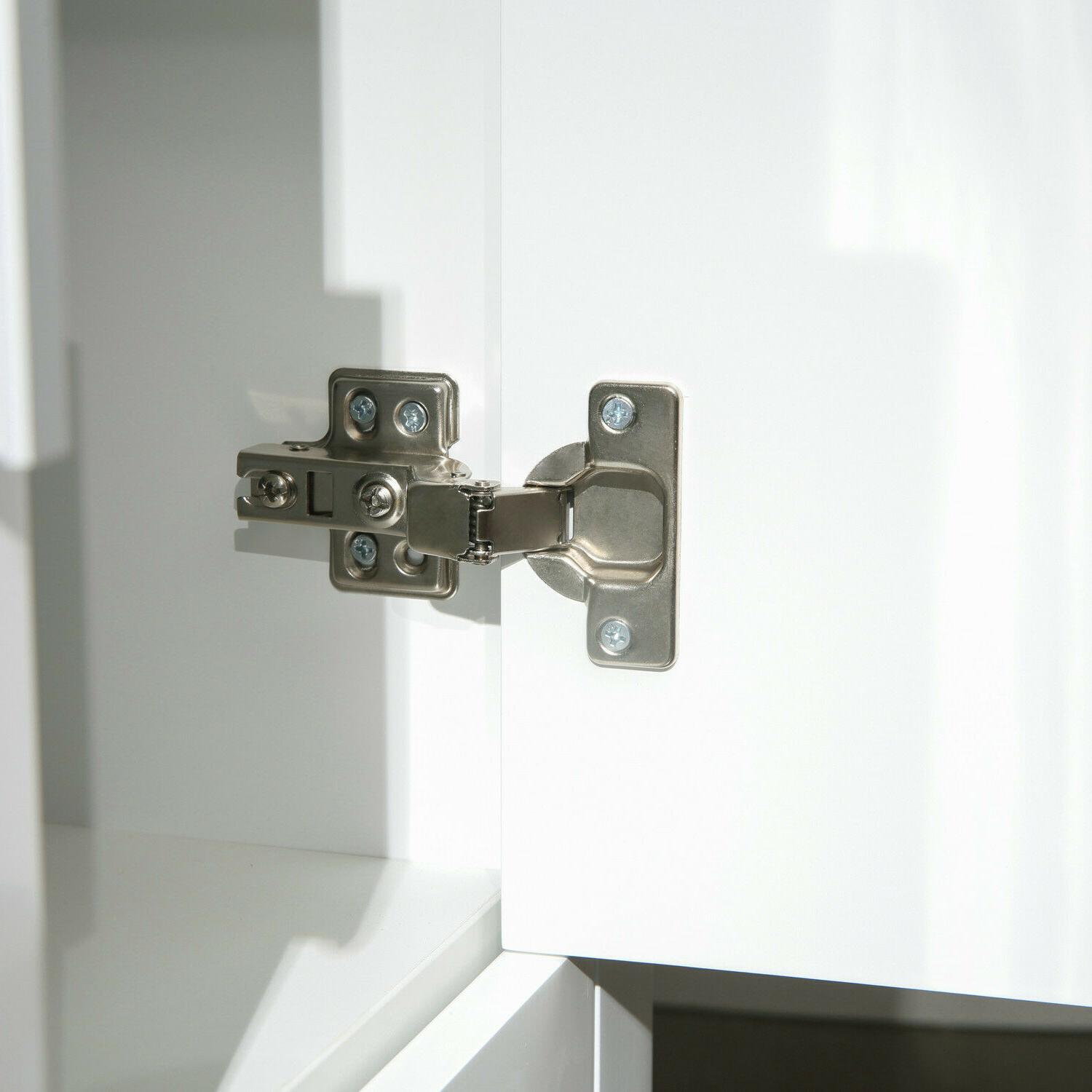 White Cabinet Double Sink Top