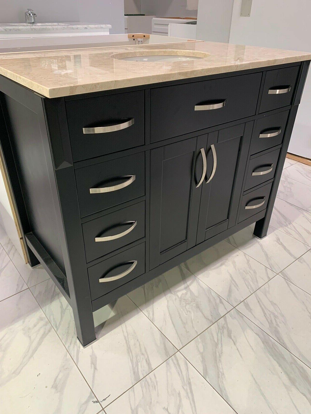 """42"""" Vanity With Cream Marble Top"""