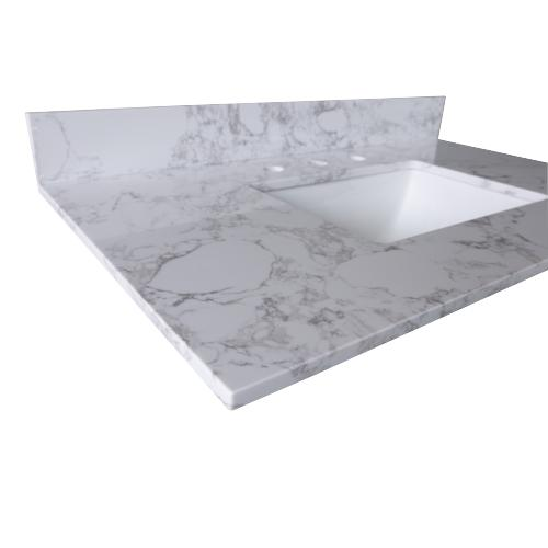 "43""x22"" Vanity Engineered Marble Color with Sink"