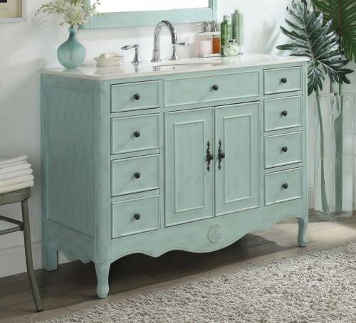 """46.5"""" Collection Distressed Light Sink"""