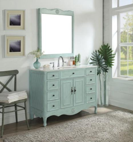 """46.5"""" Collection Light Sink Vanity"""