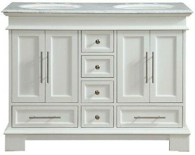 48 in x 22 in white marble