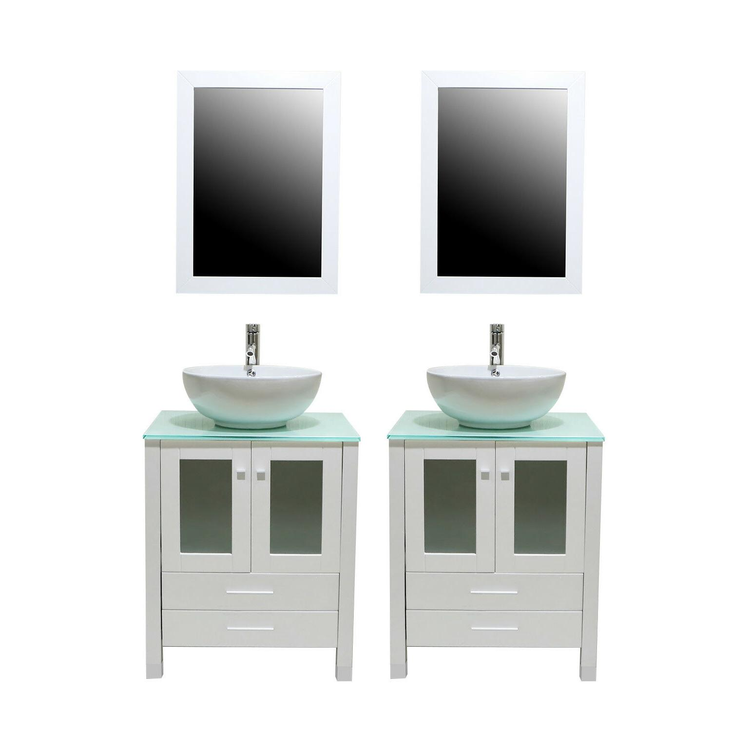 48 inch bathroom vanities double cabinets glass