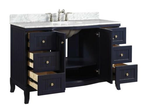 "49"" Benton Collection Navy Blue Contemporary Vanity GD-9717NB"