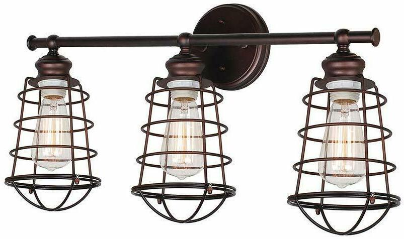 Design House 519736 Ajax 3 Light Vanity Light, Bronze Home D