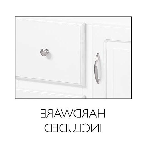 Design 545095 White with 2-Drawers, 36-Inches 21-Inches Deep