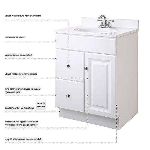 Design White Cabinet with 2-Doors 36-Inches Wide by 21-Inches Deep