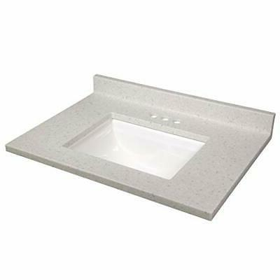 563536 cultured marble vanity top with white