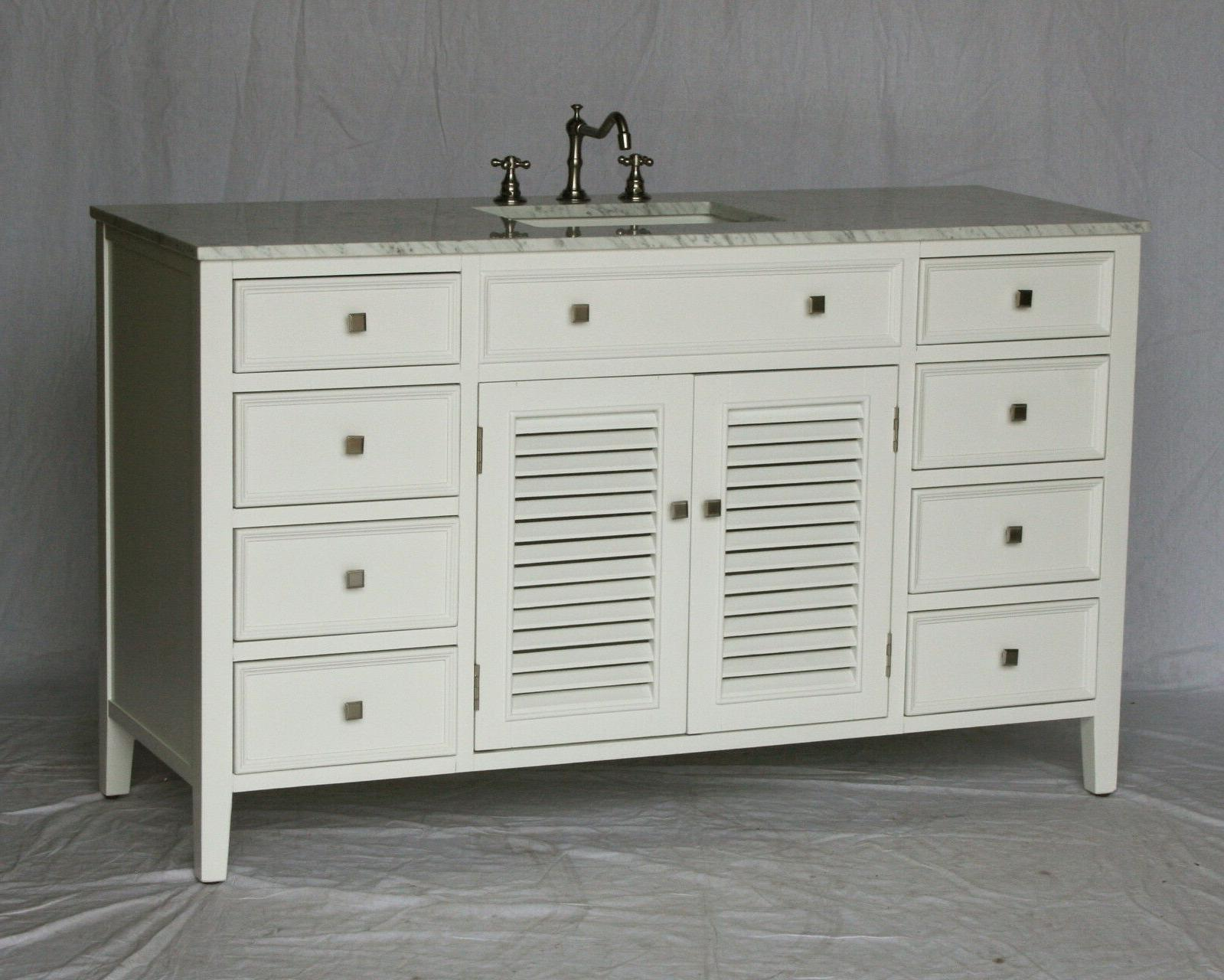 58 inch cottage style single sink bathroom