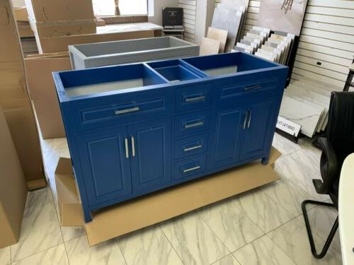 """60"""" Traditional Double Sink Bathroom Cabinet in"""