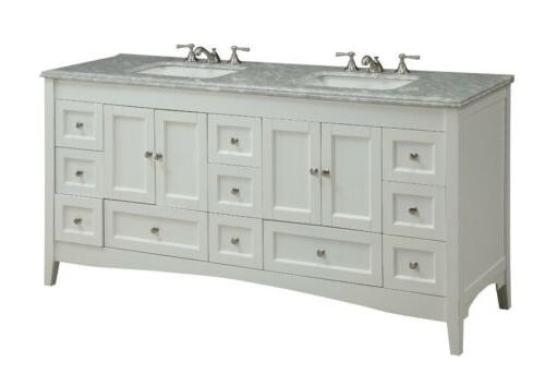 72 kenly double sink white modern bathroom