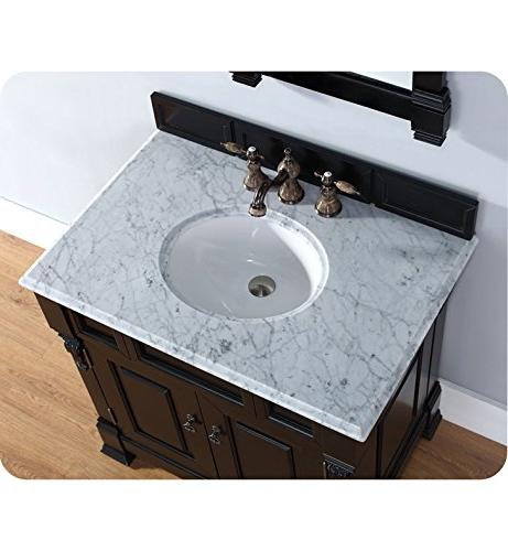 James Martin 36 Single Sink Vanity with cm. Snow White Quartz