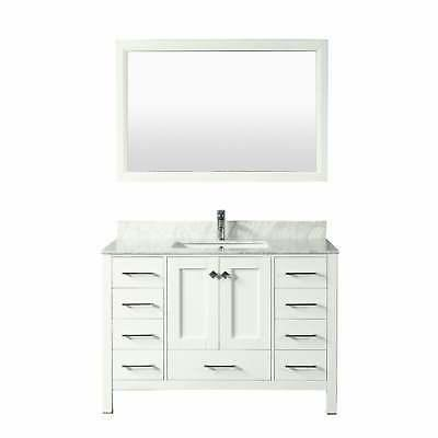 Eviva Transitional Bathroom w/ White Single