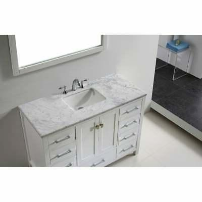 "Eviva 48"" White Transitional White Vanities"