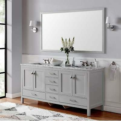 Eviva Aberdeen Gray Transitional Grey Double Vanities