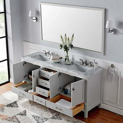Eviva Gray Transitional Sink Grey Double Vanities