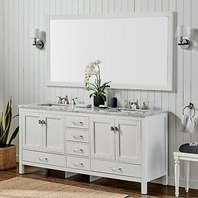 Eviva Transitional Double Sink White Vanities