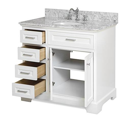 Aria : Includes a Cabinet with Close Drawers, Authentic Marble and Ceramic Sink