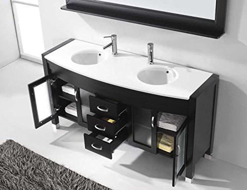 Ava 63 Vanity Set with Mirror, Espresso