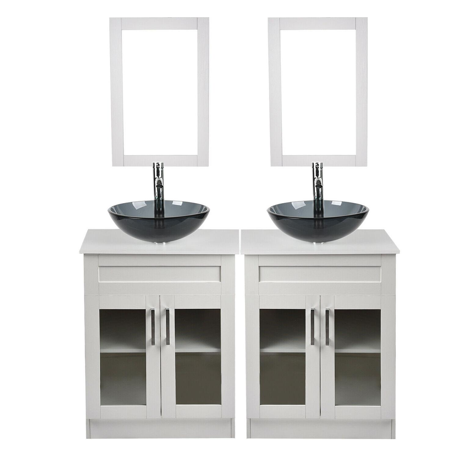 Bathroom Single Vanity Bowl Faucet Drain Combo