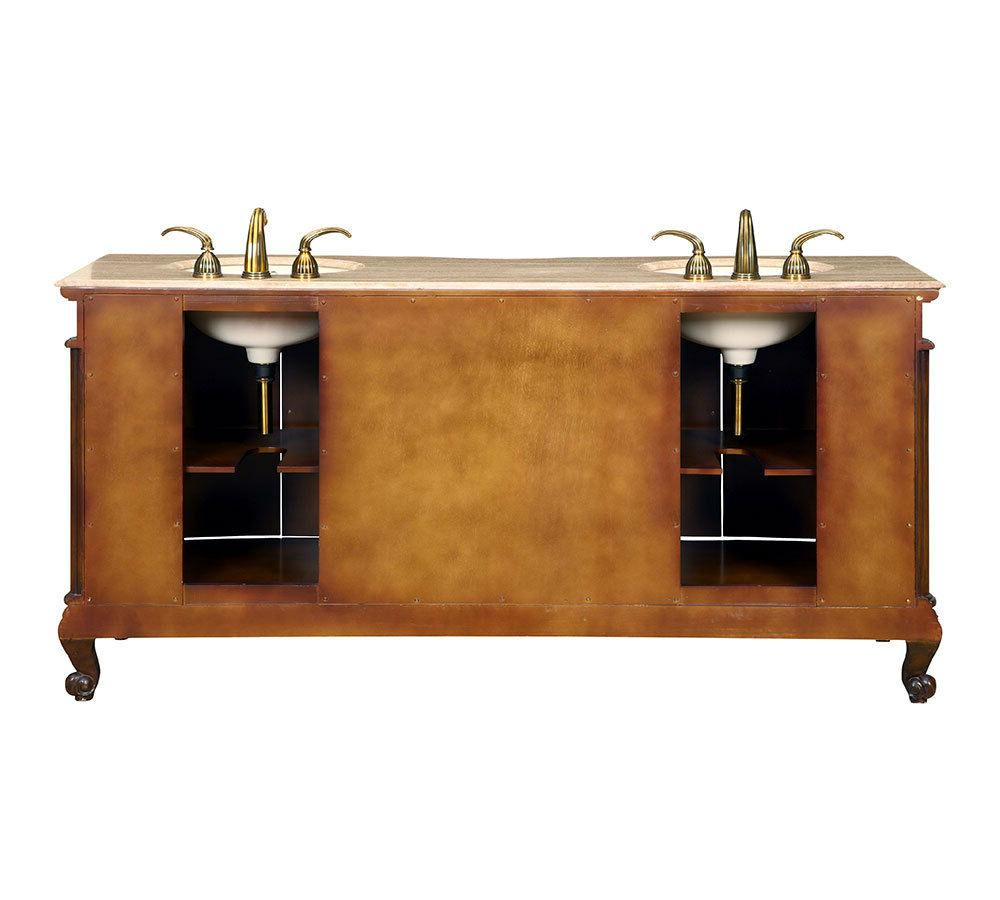 "72"" Bathroom Top Lavatory Double Sink Vanity"