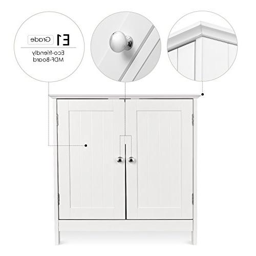 Vanity Space Storage Double with White Finish