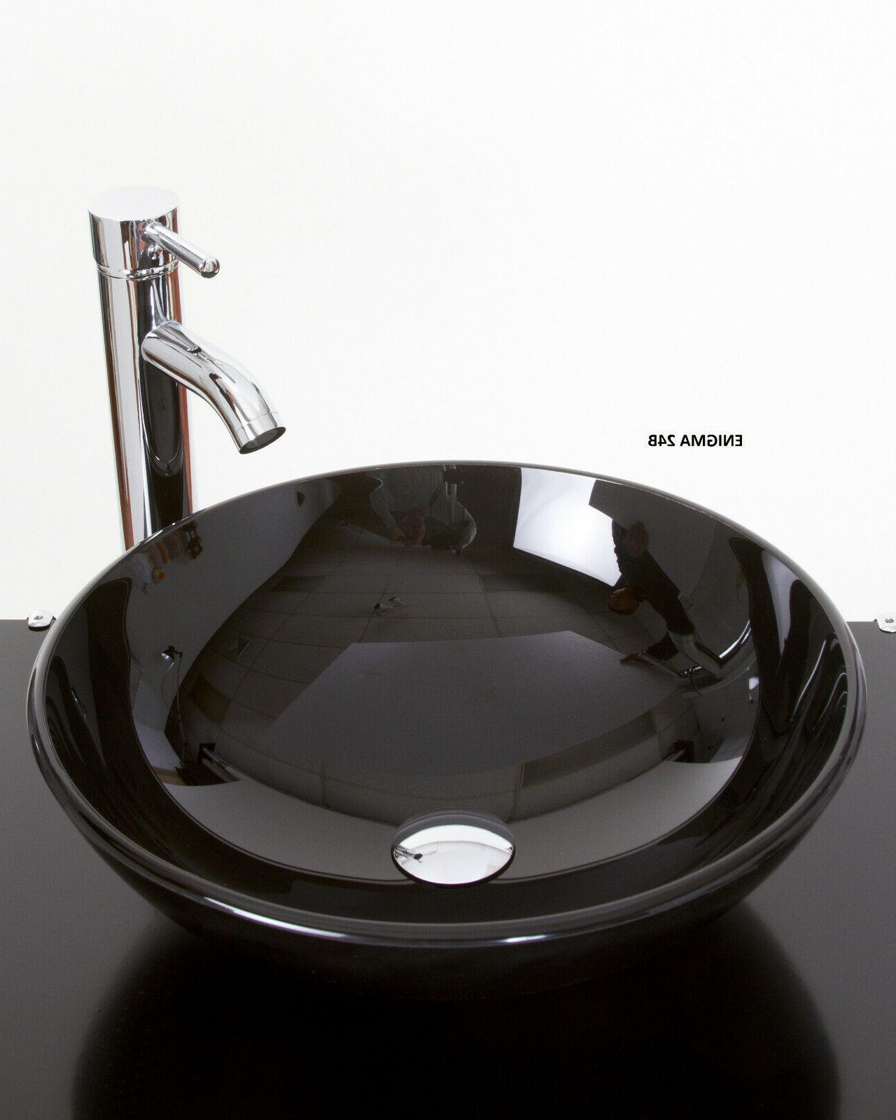 Bathroom Vessel Sink Pedestal Faucet and