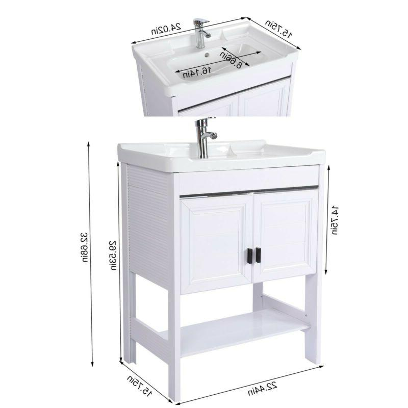 """24"""" Small Cabinet With Faucet Combo"""