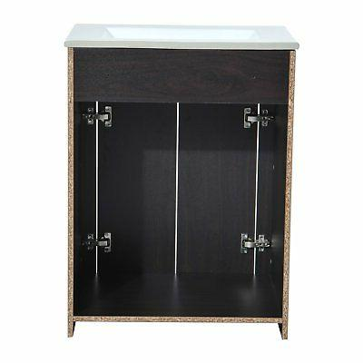 "HomCom 24"" and Combo Cabinet Coffee"