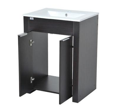 HomCom Bathroom and Sink Combo Cabinet - Dark Coffee