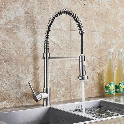Bathroom Basin Faucet Brushed Nickel Waterfall Square Vanity