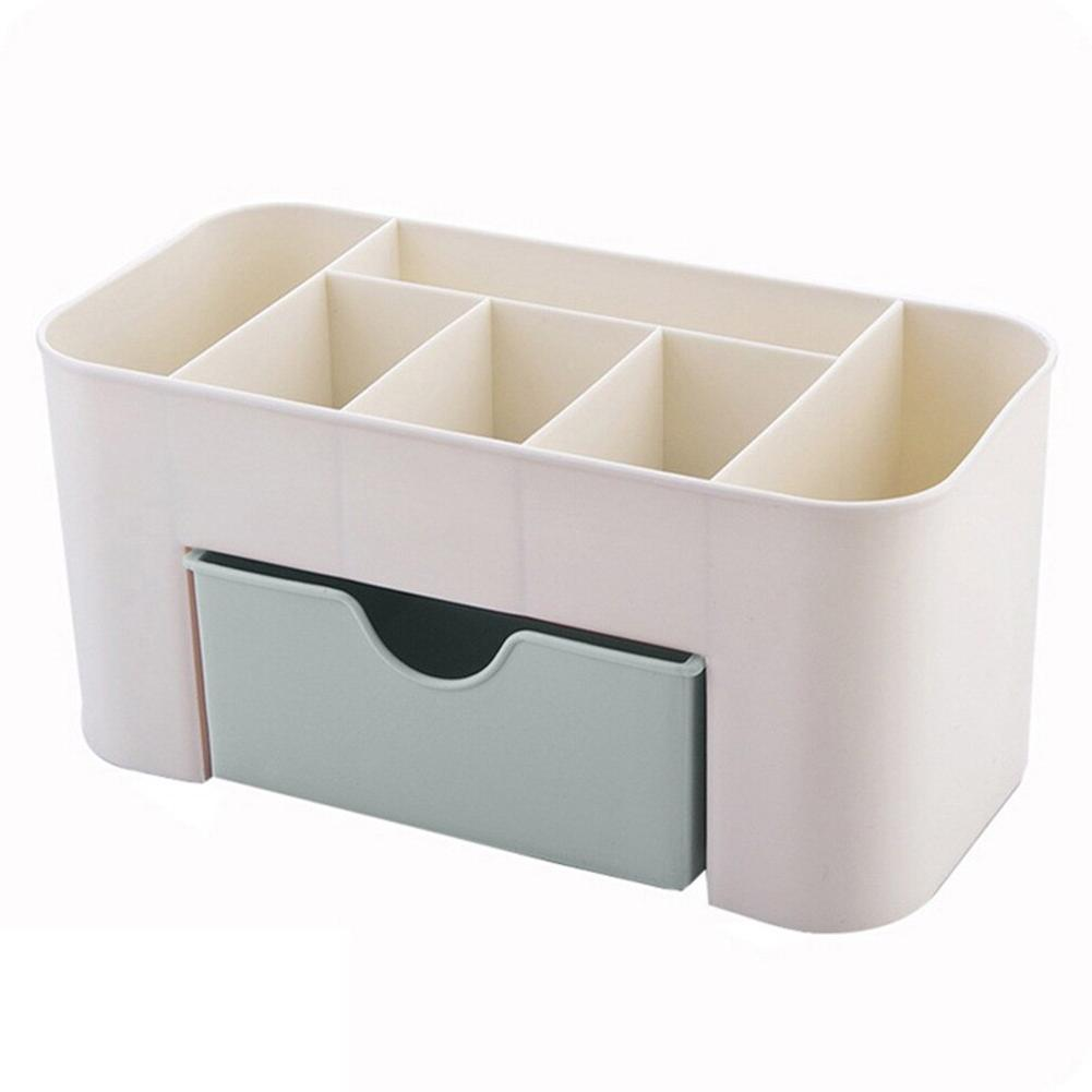 Best <font><b>Vanity</b></font> Drawer Beauty Organizer 6 Compartments 1 Drawer Cosmetic Box Home Office <font><b>Bathroom</b></font>