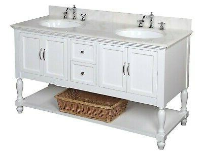 "Kitchen Bath Collection Beverly 60"" Double Bathroom Vanity S"