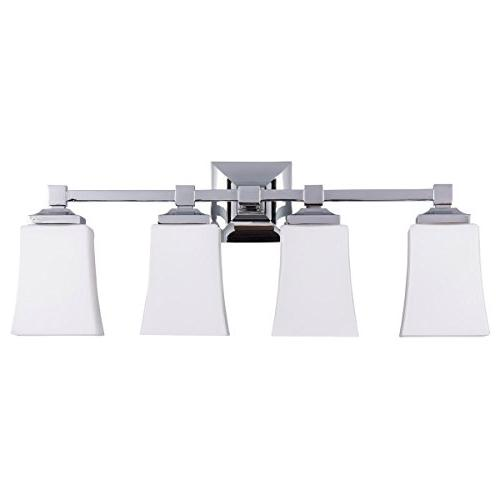 Brighton 4 Vanity Fixture w/Frosted Glass Liara LL-WL240-4-PC