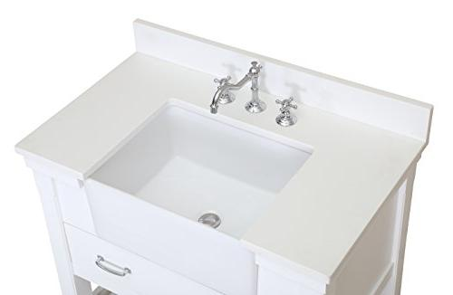 Charlotte 36-inch : Includes a White with and White Ceramic Farmhouse Apron Sink
