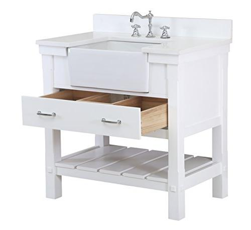 Charlotte 36-inch Bathroom Vanity : a White with and Apron Sink