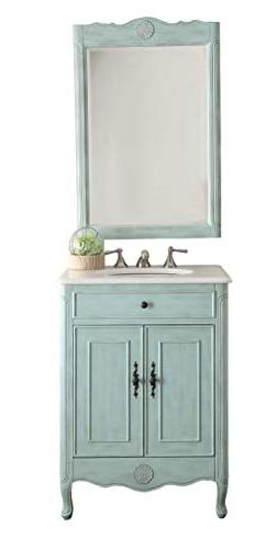 "26"" Cottage Style Pastel Light Blue Daleville Bathroom Sink"