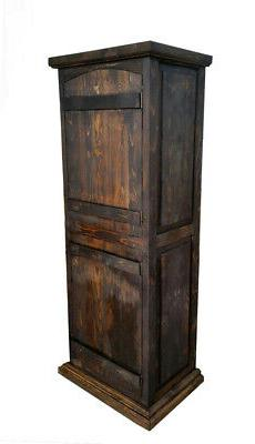 Crusaders Rustic Curved Doors Cabinet
