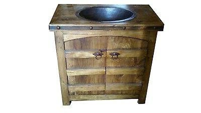 "Rustic Wood Doors 36"" wide Sink"