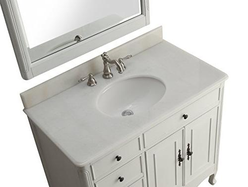 "38"" Collection White Sink Vanity"