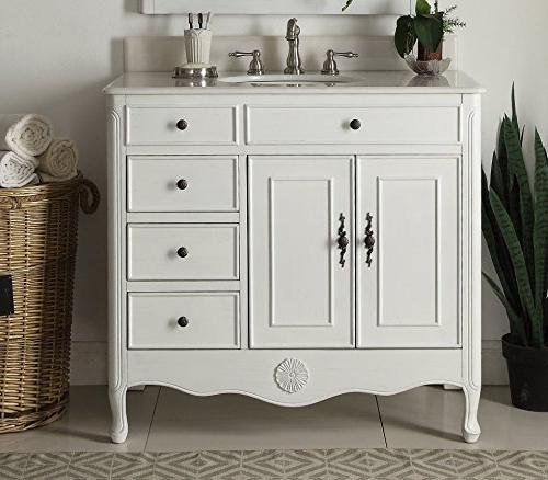 "38"" Collection White Vanity"
